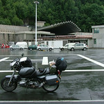 The R1100R at the French side of the Mont Blanc tunnel.